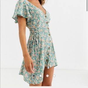 Band of Gypsies side tie floral skater dress